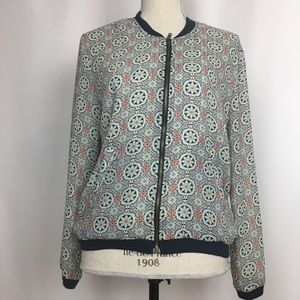 About A Girl Boho Lightweight Bomber Jacket, Sz M